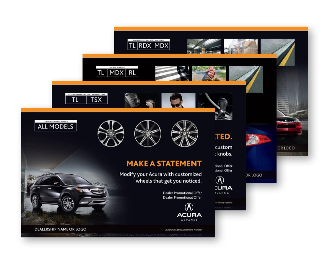 Acura Accessories Poster Liehr Marketing Communications