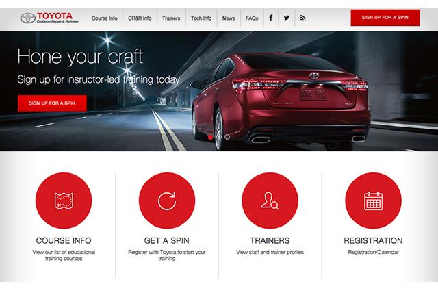 Toyota Collision Repair & Refinish Website