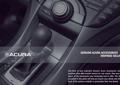 Acura Accessory Sales Meeting Planner and Brochures