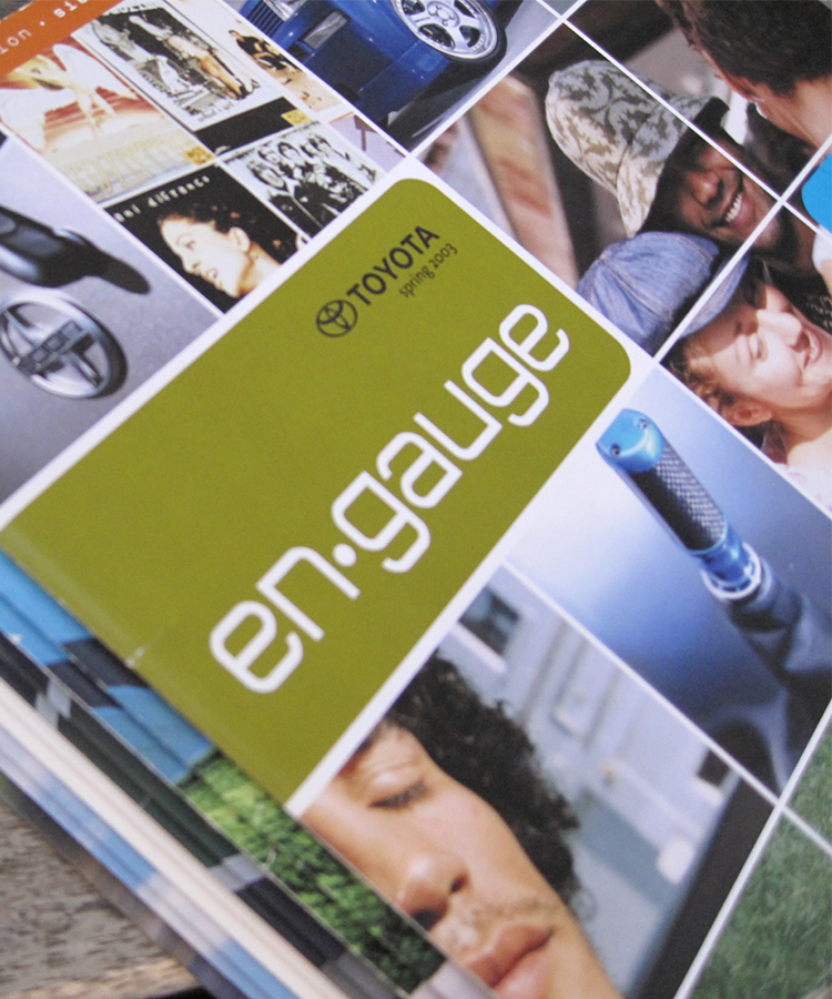 Engauge Magazine Audience Surveying, Branding, Content Development, Contest & Promotional Giveaways, Copywriting, Design, Illustrations, Layout, Logo, Market Research, Photography