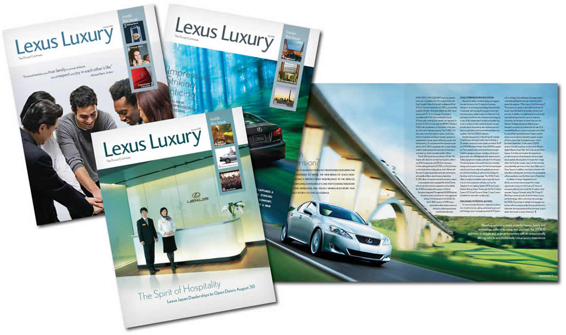 Lexus Luxury, Branding, Content Development, Copywriting, Design, Layout, Logo, Photography