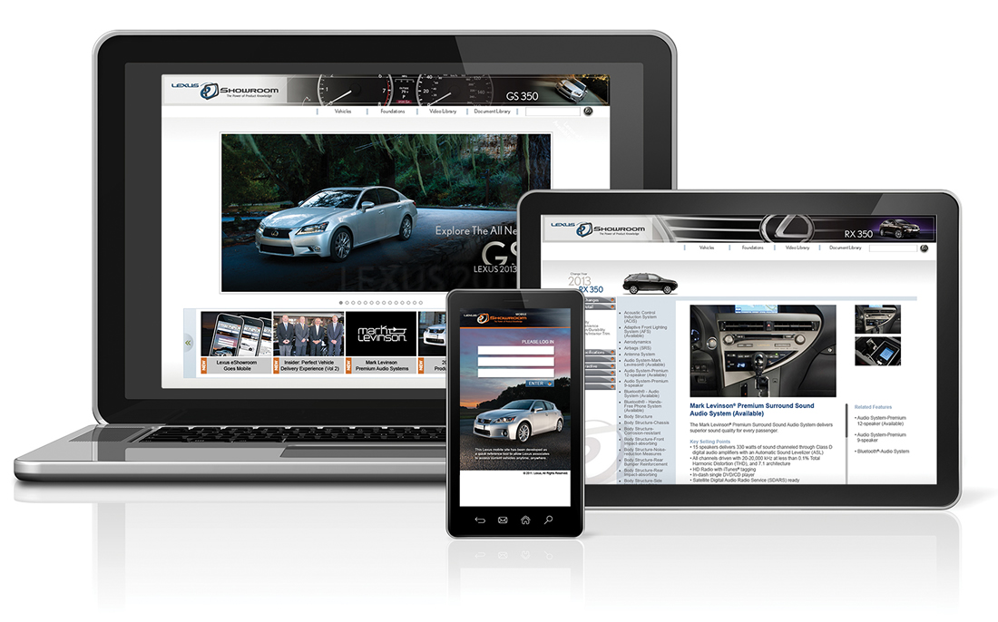 Lexus EShowroom Branding, Copywriting, Design, Direct Mail, HTML Email Blasts, Layout, Logo, Multimedia Campaigns, Website
