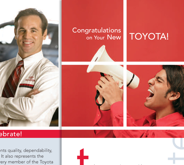 Toyota New Owners Celebration, Brand and Logo Development, Photography, Copywriting, Illustrations, POP Displays, Design & Layout, Content Development and Direction