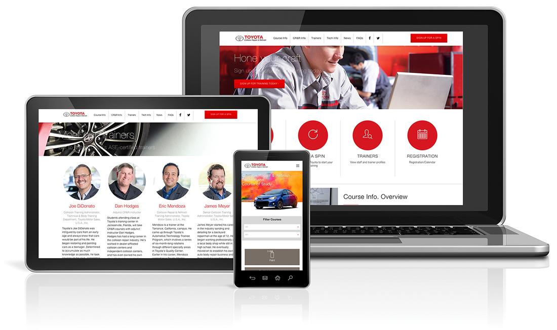 Toyota Collision Repair & Refinish Website Content Management, eCommerce, Graphic Design, Website