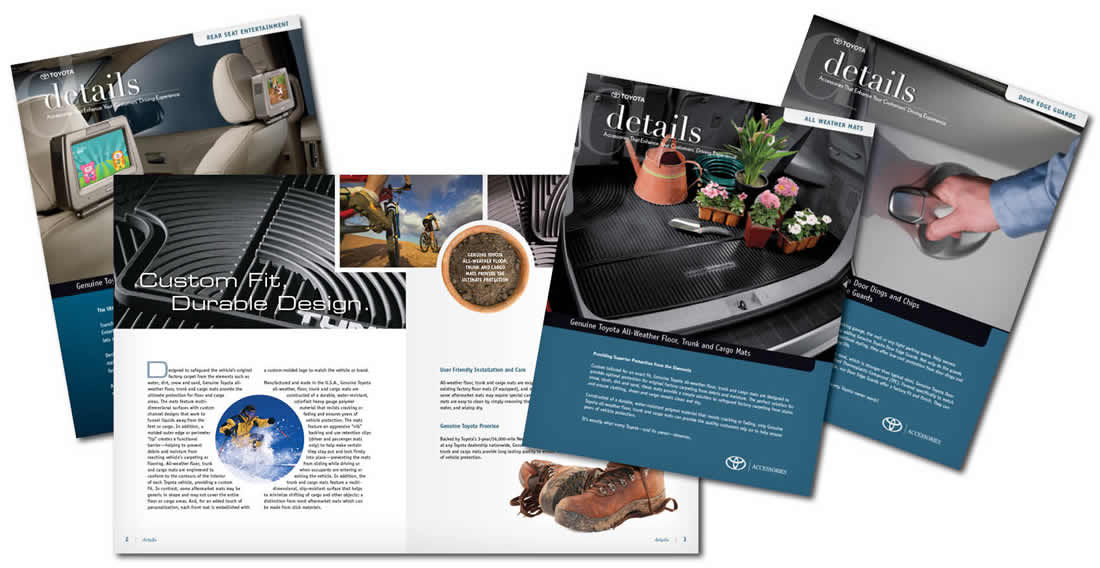Details, Copywriting, Design, Layout, Publication Name Creation, Research