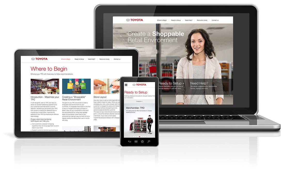 Toyota Parts Center Website Photography, Web Design, Graphic Design, Copywriting, Retail Merchandising